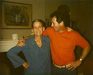 James Merrill - James Merrill with actor Peter Hooten, his partner from 1983-1995 (photo: Judith Moffett)