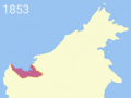 James Brooke territorial acquisition (1853).png