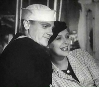 James Cagney - Cagney and Gloria Stuart in 1934's Here Comes the Navy: The movie was filmed on the ill-fated USS ''Arizona''. Cagney's long film career would see him in a naval uniform on more than one occasion.