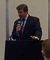 James Heappey addressing the National Flood Expo 2015 (cropped).jpg