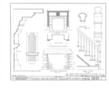 James Miller House, Pittsburgh vicinity, Library, Allegheny County, PA HABS PA,2-PITBU.V,1- (sheet 8 of 8).png