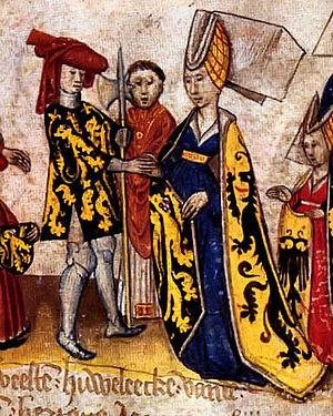 Margaret of Flanders, Duchess of Brabant - John I, Duke of Brabant and his wife Margaret of Flanders