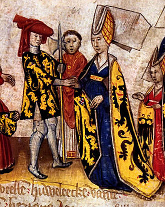 Margaret of Flanders, Duchess of Brabant - John I, Duke of Brabant and his wife Margaret of Flanders