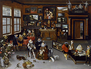 The Archdukes Albert and Isabella Visiting a Collector's Cabinet - Image: Jan Brueghel the Elder The Archdukes Albert and Isabella Visiting a Collector's Cabinet Walters 372010