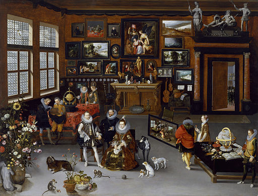 Jan Brueghel the Elder - The Archdukes Albert and Isabella Visiting a Collector's Cabinet - Walters 372010
