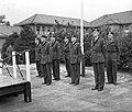 Jan van Schaffelaar kazerne Ermelo, bevordering sergeants tot vaandrigt, Bestanddeelnr 906-7431.jpg