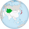 Japan and 5 Central Asian countries in the map of the Asia.png