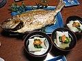 Japanese zoni and roasted fish.jpg