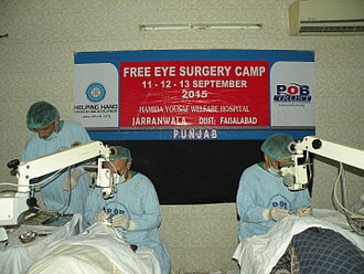Prevention of Blindness Trust - Free eye camp in Faisalabad district of Punjab Pakistan