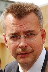 Jaroslav Tvrdík na mítinku ČSSD v Ostravě.