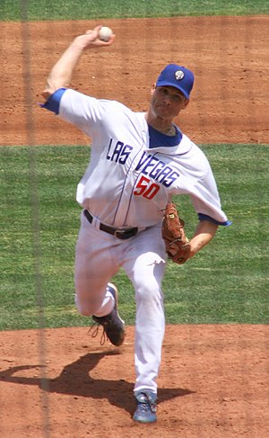 Jason Johnson (baseball) - Johnson with the Las Vegas 51s