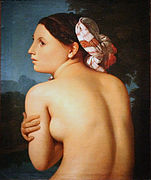 Ingresen la Baigneuse margolana, Bonnat museoa.