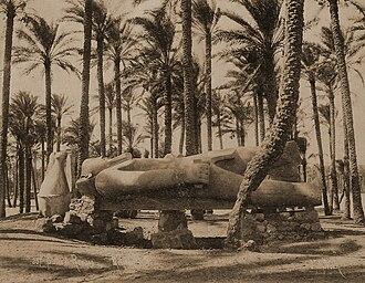 Jean Pascal Sébah - Image: Jean Pascal Sebah, Statue de Ramses Memphis 18802