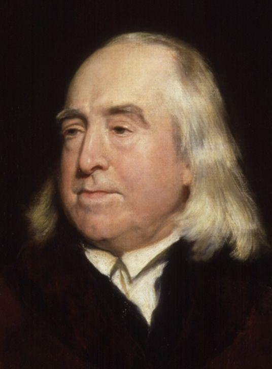 Jeremy Bentham by Henry William Pickersgill detail