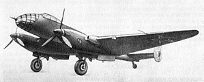 A twin-engined, low-winged, metal monoplane with a twin tail and conventional undercarriage