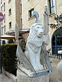 Jerusalem King David street statue of winged lion.jpg