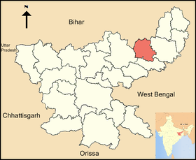 Localisation de District de Deoghar