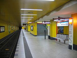 Jakob-Kaiser-Platz (Berlin U-Bahn) - Platform view