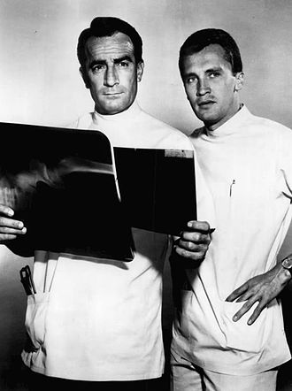 Roy Thinnes - Thinnes as Phil Brewer with John Beradino in General Hospital, 1964