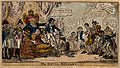 John Bull on a throne receiving emaciated and tattered suppl Wellcome V0050171.jpg