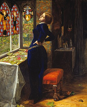 Mariana (poem) - Mariana by John Everett Millais (1851).