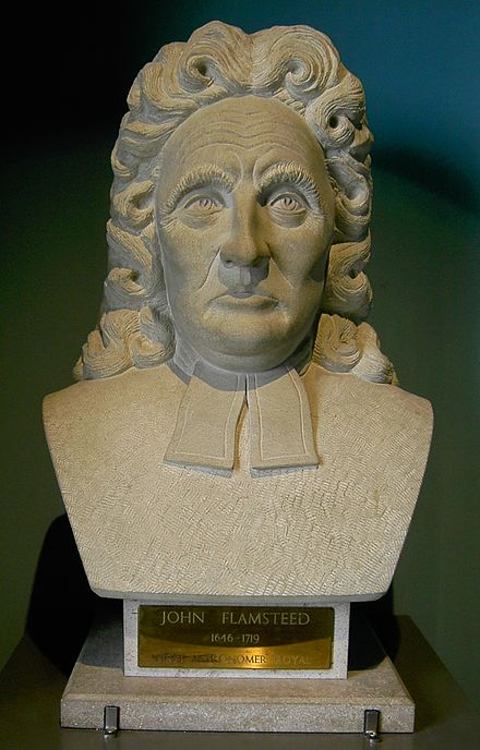 Bust of John Flamsteed in the Museum of the Royal Greenwich Observatory John Flamsteed Royal Greenwich Observatory Museum.jpg