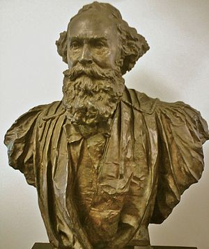 LeConte Hall - Bronze bust of John LeConte in Physics library, LeConte Hall