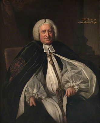 John Thomas (bishop of Winchester) - John Thomas, 1761 portrait by Nathaniel Dance-Holland.