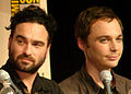 Johnny Galecki & Jim Parsons at Comic Con 2009.jpg
