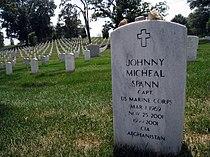 Johnny Micheal Spann headstone Arlington National Cemetery section 34 site 2359.JPG