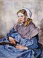 Jong meisje in klederdracht, door Johannes Evert Akkeringa.jpg