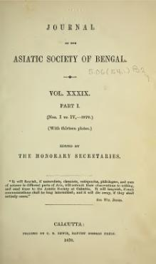 Journal of the Asiatic Society of Bengal Vol 39, Part 1.djvu