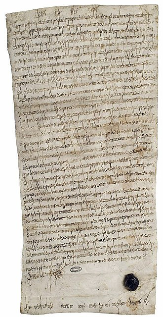 Clovis IV - A written judgement issued by Clovis IV on 28 February 693