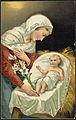 Julekort, 1909, Jesusbarnet og jomfru Maria.jpg
