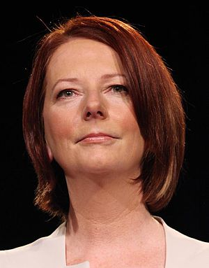Prime Minister of Australia Julia Gillard at a...