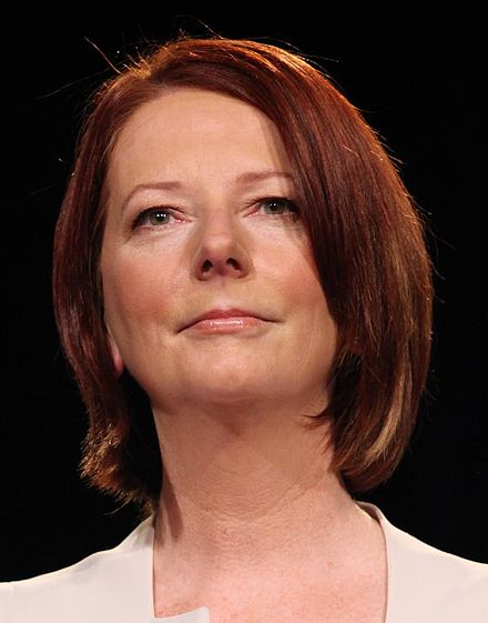 British-born Julia Gillard is the only woman to have served as Australia's Prime Minister. Julia Gillard 2010.jpg