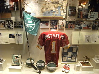 "Just Say No - ""Just Say No"" memorabilia at the Reagan Library (2008 photo)."