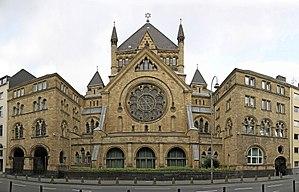 Roonstrasse Synagogue - Image: Köln synagoge pano