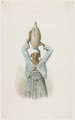 KITLV - 36A217 - Borret, Arnoldus - Woman with a jug on her head - Water colour - Circa 1880.tif