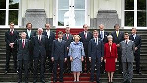 First Balkenende cabinet - Image: Kabinet Balkenende I