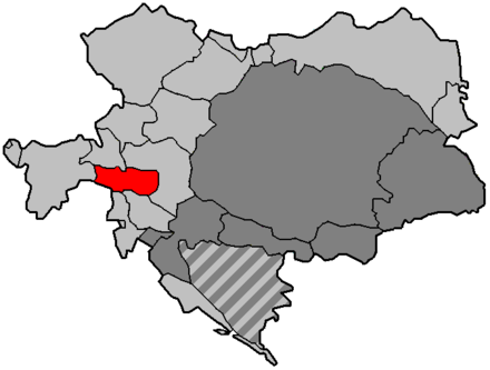 The Cisleithanian crown land of Carinthia within Austria-Hungary