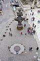 Kardinal-Höffner-Platz mit Nachbildung Kreuzblume und Taubenbrunnen-1444.jpg