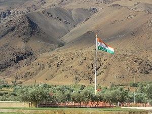 Vikram Batra - Kargil War Memorial with Tololing Ranges in the Background at Dras
