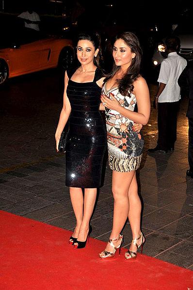File:Karisma Kapoor with his sister Kareena Kapoor at Karan Johar's 40th birthday bash at Taj Lands End (31).jpg