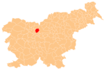 The location of the Municipality of Cerklje na Gorenjskem