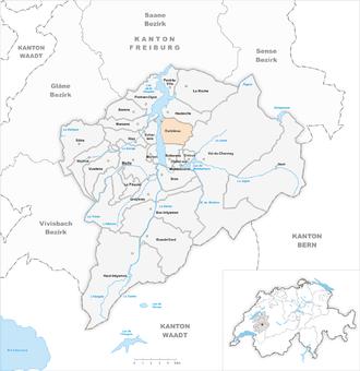 Corbières, Gruyère - Image: Karte Gemeinde Corbières 2014