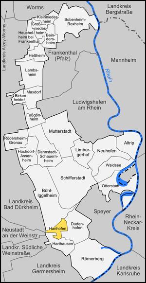 Hanhofen - Image: Karte Hanhofen