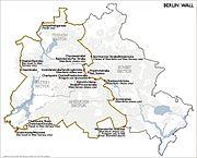 Karte berliner mauer en