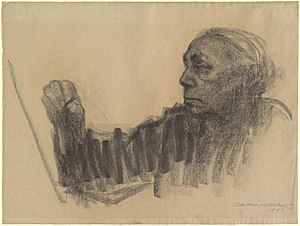 Dictionary of Women Artists - Self-portrait by Käthe Kollwitz (cover illustration)