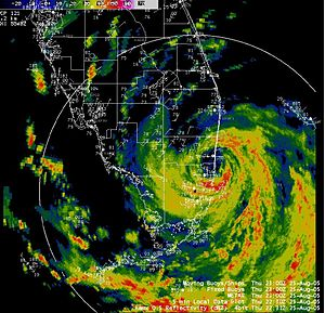 Effects of Hurricane Katrina in Florida - Image: Katrina Florida landfall